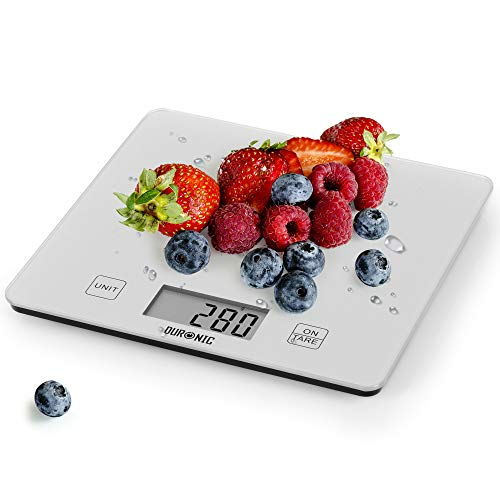 Duronic Digital Kitchen Scales KS1080 | 10KG Capacity | Silver Glass...