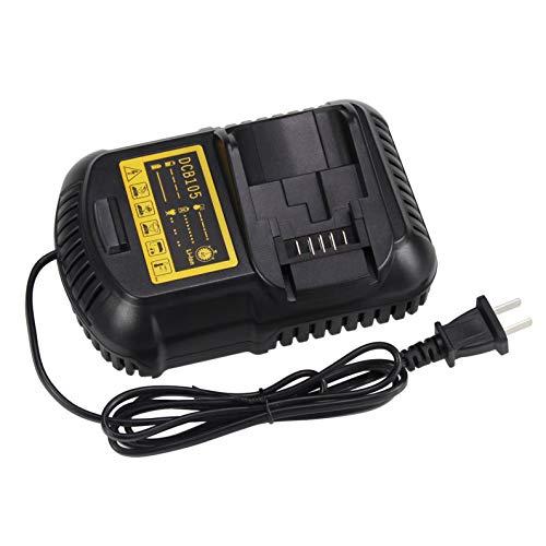 DCB105 Battery Charger for Dewalt 12V ~ 20V MAX Lithium-ion Battery Compatible with DCB101 DCB115 DCB107 DCB205 DCB203 DCB204 DCB206 DCB201 DCB120 DCB127