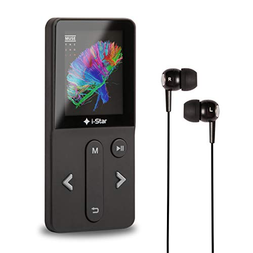 MP3 Player with Bluetooth, i-star Portable MP3 Music Player 16GB, Mini MP3 Player with FM Radio, Audio Recorder, Photo Playback, Ebook, Video Play, Support up to 128GB Micro SD (Headphone Included)