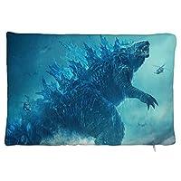 Godzilla ぬいぐるみの枕カバー デコールホーム 快適 抗菌防ダニ抗静電 ピロープロテクターケース レストラン 寝具 家 抱き枕カバー 20×30cm