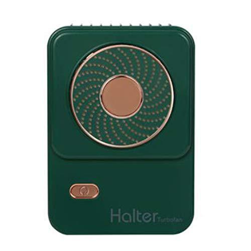 TOOGOO Ventilador PortáTil Ventilador Personal Plegable PortáTil Silencioso Ventilador Perezoso Ventilador de Cuello 3 Velocidades-para Correr, Viajar, Deportes, Verde