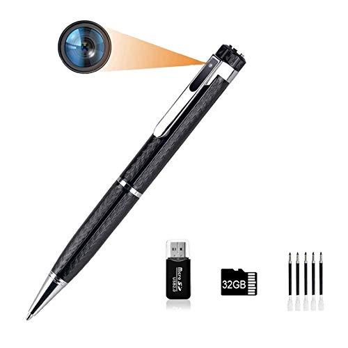 Mini Stift Kamera Versteckte Kamera,1080P HD 32GB Micro SD Tragbare Kleine Überwachungskamera für Home Office Überwachung Unterstützung Bewegungserkennung mit 5 Tinte Fills