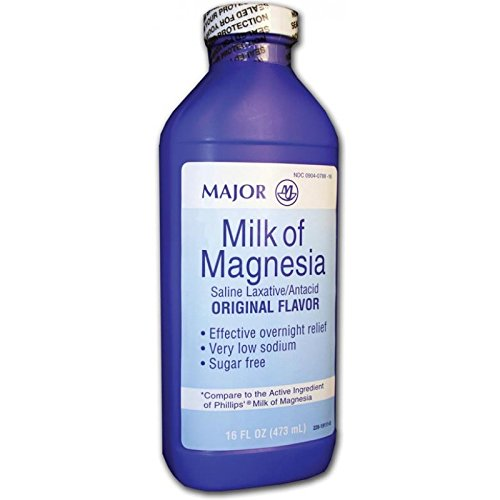Major Milk of Magnesia Suspension, 400mg/5mL, 16oz by MAJOR