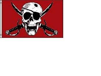 NEOPlex 3  x 5  Crimson Pirate Flag