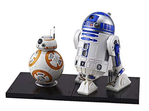 BANDAI Star Wars BB-8 & R2-D2 1/12 Scale Plastic Model by