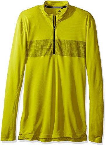 adidas Herren Outdoor-T-Shirt mit halbem Reißverschluss, Herren, Unity Lime, XX-Large