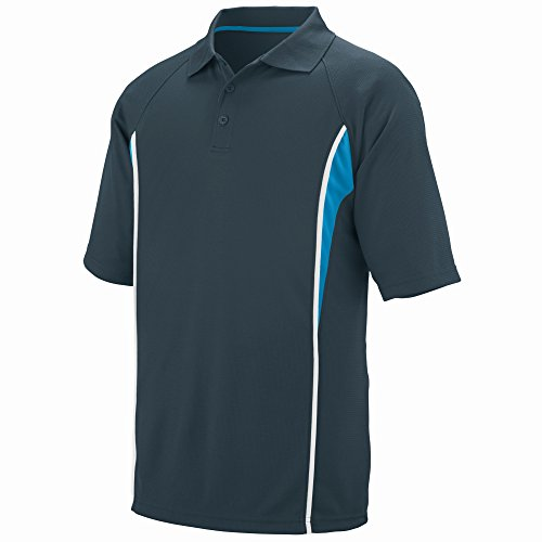 Augusta Sportswear Men's Rival Sport Shirt L Slate/Power Blue/White
