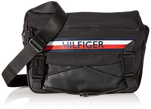 Tommy Hilfiger - Urban Mix Messenger, Shoppers y bolsos de hombro Hombre, Negro (Black), 8.5x24x32 cm (W x H L)