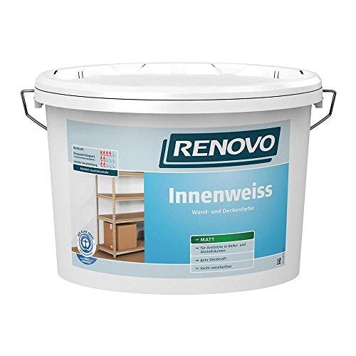 Innenweiß Innenfarbe weiß matt 2,5 L Wand- Deckenfarbe Renovo