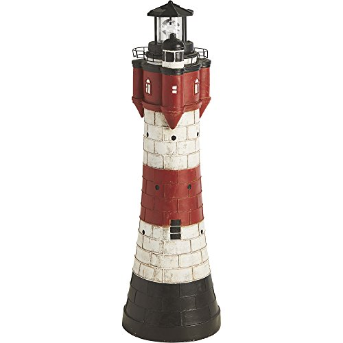 Solar Lighthouse Lawn and Garden Decor — 43in.H