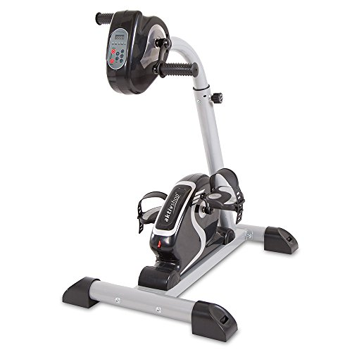 maxVitalis Bewegungstrainer | Arm- und Beintrainer | 2in1 mit Motor | Pedaltrainer mit Trainingsdisplay | Massage-Handgriffe | Arm- und Beintrainer 2.0