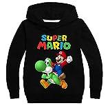 East-hai-buy Suéter para Niños, Moda Niñas Super Mario Bros Sudadera Pullovers Sudaderas con Capucha Ropa Deportiva con Capucha Tops