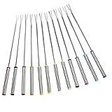 Insmartq Fonduta di Formaggio Forks 12 Confezioni in Acciaio Inox fonduta di Frutta Forks ...