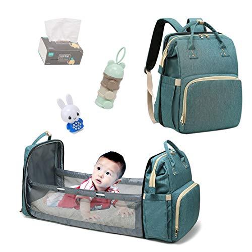 xiaohuozi Multifunktions-Kinderbett Faltbares Babybett Reise-Wickeltasche mit großer Kapazität Muttertasche für Reisen nach Hause im Freien, Ausflüge, Besuche bei Verwandten und Freunden