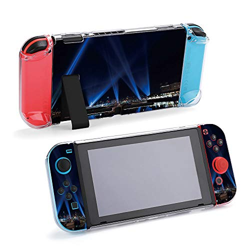 SUPNON Switch Case Compatible with Nintendo Switch Games Protective Hard Carrying Cover Case for Nintendo Switch Console Joy Con Controlle - Illuminates The Hobart Skies During Dark Design31452