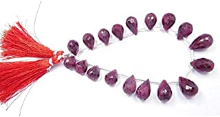GemAbyss Beads Gemstone Ruby Corundum Faceted Natural Gemstone 8X11-10X15 Mm Tear Drop Shape Beads Tear Drop Bead,Teardrop Beads,Drop Beads,Faceted Beads 8 INCHES Code-MVG-44291