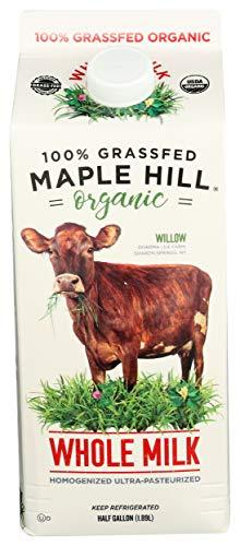 Maple Hill Creamery 100% Grass Fed Organic Whole Milk, 64 oz