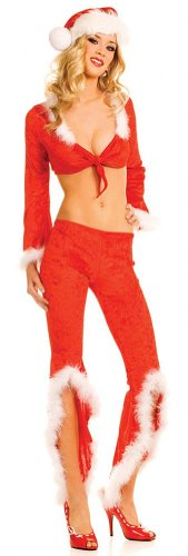 ToBeInStyle Women's Christmas Santa Pants Costume W/Accessories - Medium/Large - Multicolored - http://coolthings.us