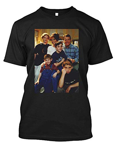 MITM Season 1 Cast Malcolm in The Middle 90s Comedy Malcolm Frankie Muniz Bryan Cranston T Shirt Gift Tee for Men Women Black