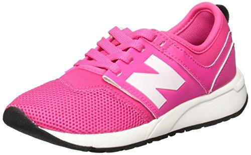 NEW BALANCE - Pink Sportschuh mit Schnürsenkeln grand school, aus Synthetik und Mikrofaser, oberer elastischer Saum, Mädchen, Damen-38