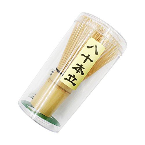 Ulable. Herramienta de bambú chasen para batir té matcha en polvo, accesorio para la ceremonia del té japonesa, 60-70/70-75/75-80 varillas, bambú, 70-75 prongs