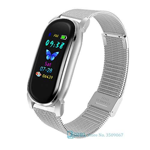 XYZK YD8 Temperatura Smart Watch Men's Y Women Smart Relojes Smart Reloj Inteligente para Fitness Tracker Bluetooth Smart Watch para Android iOS,D