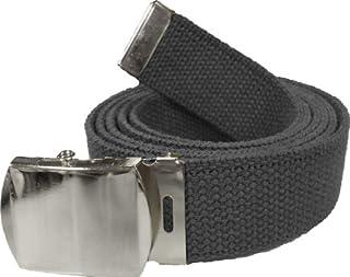 Army Web Belt 100% Cotton Canvas Military Color Belts 54 Long