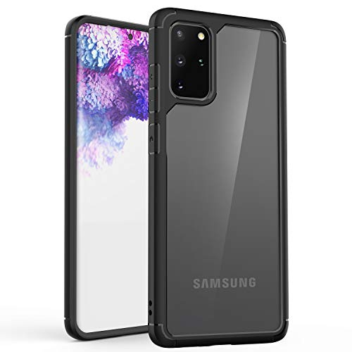 ORETECH Samsung Galaxy S20 Plus Case (2020), Samsung S20 Plus Case Clear Back Slim with Transparent Hard PC + Soft TPU Silicone Bumper Shockproof Protective Cover for Galaxy S20 Plus - 6.7