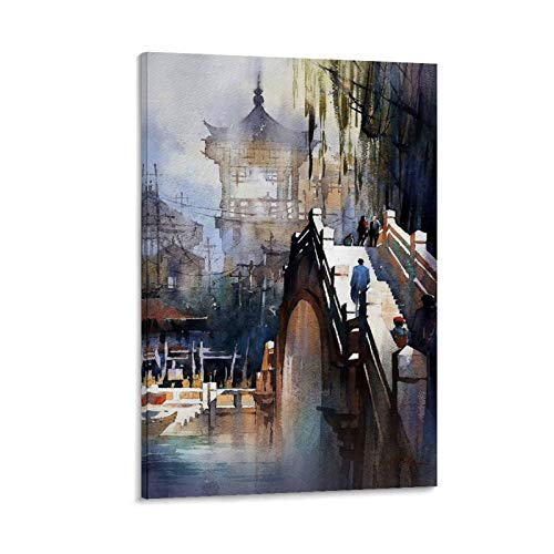 GJKJ Thomas Schaller Watercolor Artist Poster Decorative Painting Canvas Wall Art Living Room Posters Bedroom Painting 24x36inch(60x90cm)