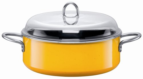 Silit Schmortopf mit Deckel, 7,5 l, Gelb