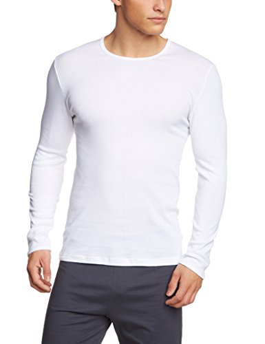 Calida heren Cotton 1:1 shirt met lange mouwen van katoen in Freinripp-kwaliteit