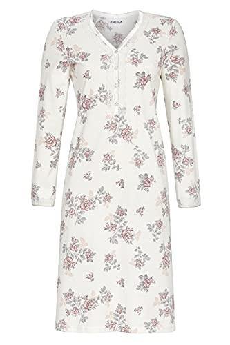Ringella Damen Nachthemd mit Knopfleiste Champagner 50 1511009,Champagner, 50