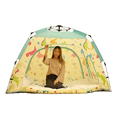 LHL Fully Automatic Pop Up Indoor Child Tent Windproof Anti-mosquito Outdoor Camping Tent,4 Sizes (Color : 1 PEOPLE, Size : 4PEOPLE)