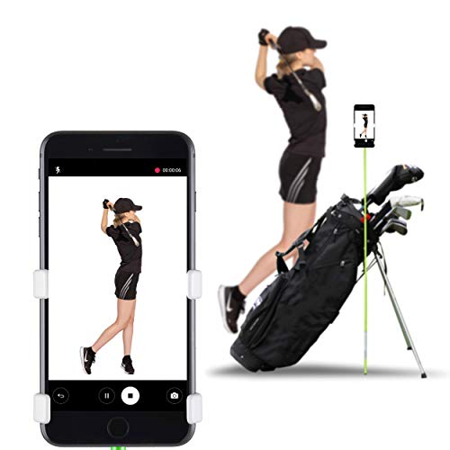 Selfie Golf Europe - Record Golf Swing - Der Gewinner des PGA Best of 2017 (Matte Black) (Pink/Weiß)