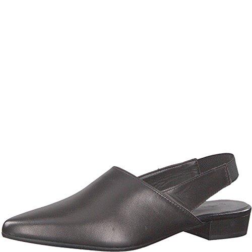 Tamaris 1-1-29405-30 Damen Sling Pumps, Sommerschuhe für die modebewusste Frau schwarz (Black Leather), EU 37