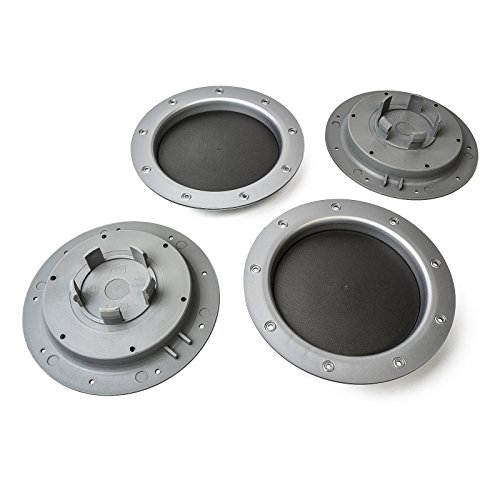MYBAS Casquillo de eje 4X Covers 147 mm / 58 mm Tapa de la Rueda universal 4779035326534 para gris