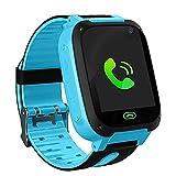 LDB Reloj Inteligente para Niños, Smartwatch Niños LBS Tracker Llamada Bidireccional Pantalla Táctil Linterna Chat de Voz Juego Compatible con iOS Android para Cumpleaños 3-12 Años Niños Niñas