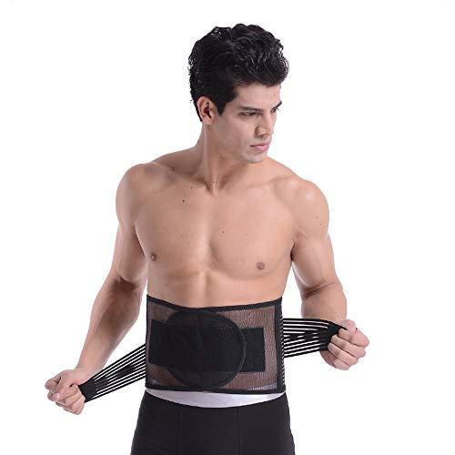 No-branded GYMGUS Body Shaper Weight Loss Wrap Waist Trimmer Belt Slimmer Kit Stomach Fat Burner Low Back and Lumbar Support Best Trainer (Color : Black, Size : L)