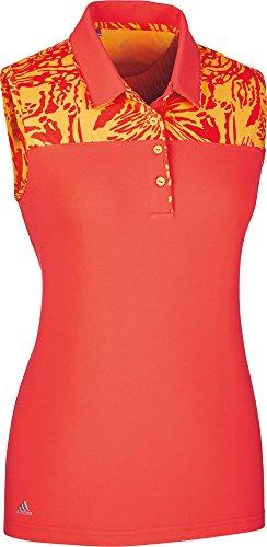 adidas CD3479 Polo de Golf, Mujer, Rojo, L