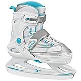 Lake Placid Monarch Girl's Adjustable Ice Skate Blue/Holographic Medium (2-6)
