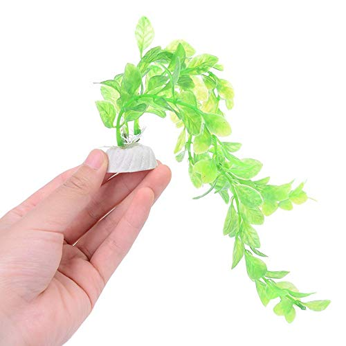 Licodonas Artificial Aquatic Plant Ornaments Aquarium Fish Tank Green Water Grass Decor Landscape Decoration - Unpotted Garland Antspirit Containers Hydrangea Succulent Ledge Cotton Tr