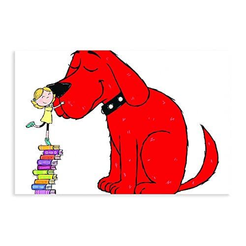 Clifford The Big Red Dog Children's Fun Anime Art Poster Children's Room Canvas Poster Wall Art Decor Print Picture Paintings for Living Room Bedroom Decoration Unframe:12×18inch(30×45cm)