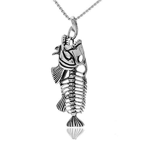 Chennnnnn Halskette Herren Fischgräte Anhänger Einfache Schlüsselbein Kette