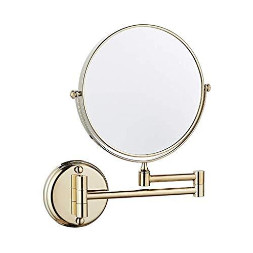 Yxxc Specchio Girevole Specchio da Parete 6'/ 8' Specchio da Parete, Specchio per Il Trucco, Specchio da Barba con ingrandimento 1X / 3X Doppio Lato, 360 °; Specchio Rotante