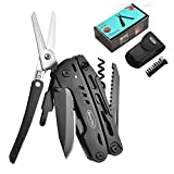 RoverTac Multitool Knife Camping Survival Knife Fathers Day Gifts for Men Dad Husband 18 in 1 Multitools with Knife Pliers Scissors Saw Screwdrivers with Safety Lock Durable Sheath