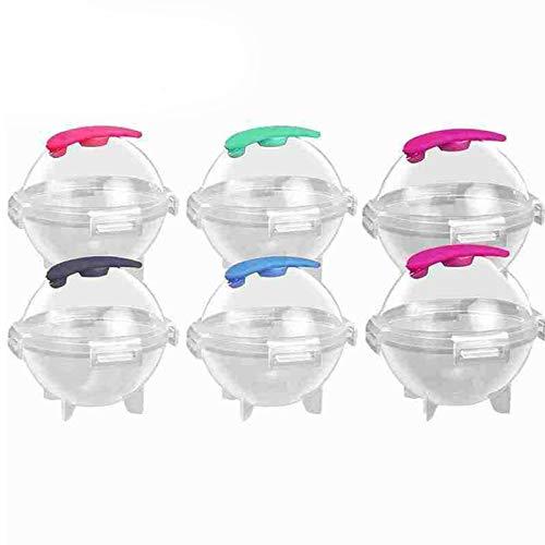 Molde redondo para hacer bolas de hielo de silicona, reutilizable, sin BPA (6 unidades)