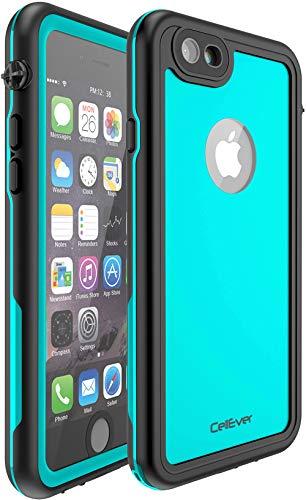 CellEver iPhone 6 / 6s Waterproof Case Shockproof IP68 Certified SandProof Snowproof Full Body Protective Cover Fits Apple iPhone 6 / iPhone 6s (4.7 Inch) KZ C-Ocean Blue