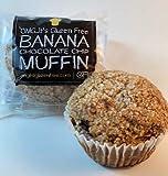 OMG...It's Gluten Free Banana Chocolate Chip Muffins - Twelve 4.5 oz Muffins - Vegan - Dairy and Peanut Free