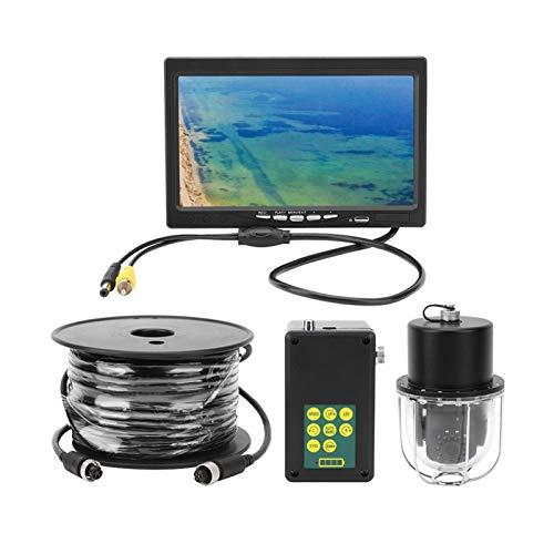 55yd Cable 20 LED Light 7 Pulgadas Pesca Vista panorámica Grabadora DVR giratoria para monitorear la acuicultura(European regulations)