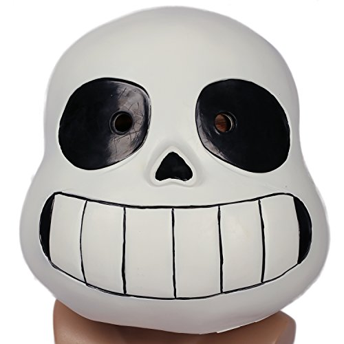Sans Latex Mask Halloween Prom Party Costume Full Face Headgear Prop